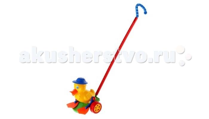 Каталка-игрушка Wieslaw Suchanek Утенок  Max с ластамиУтенок  Max с ластамиКаталка Утенок Max с ластами  Игрушка-каталка с ручкой для детей 1-3 лет. Развивает наглядно-действенное мышление, координацию движений, стимулирует двигательную активность.   Для малышей, начинающих ходить, каталка - незаменимый помощник в этом нелегком деле. Приведенная в движение каталка-бабочка машет крыльями.  Предназначение: для игровых целей на открытом воздухе и в помещении. Изготовлено из высококачественной пластмассы.<br>
