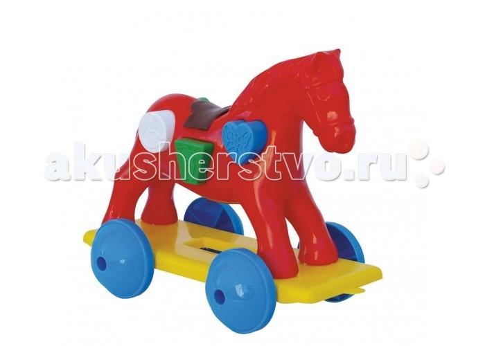 Каталка-игрушка Nina логическая - коньлогическая - коньКаталка логическая - конь  Игрушка-каталка с веревочкой для детей 1-3 лет. Развивает наглядно-действенное мышление, координацию движений, стимулирует двигательную активность.<br>