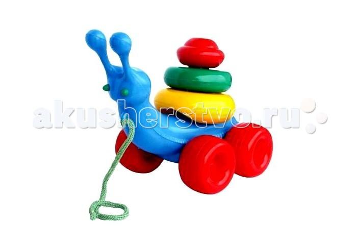 Каталка-игрушка Nina Улитка с пирамидой