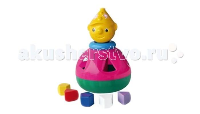 Сортер Nina Логический шар КлоунЛогический шар КлоунЛогический шар Клоун  Игрушка-головоломка для малышей с фигурами-вкладышами. Развивает цветовосприятие, мелкую моторику рук, логическое мышление и пространственное воображение, знакомит с геометрическими фигурами.   Задача ребенка - протолкнуть сквозь отверстия соответствующей формы геометрические фигуры так, чтобы они оказались внутри игрушки.<br>