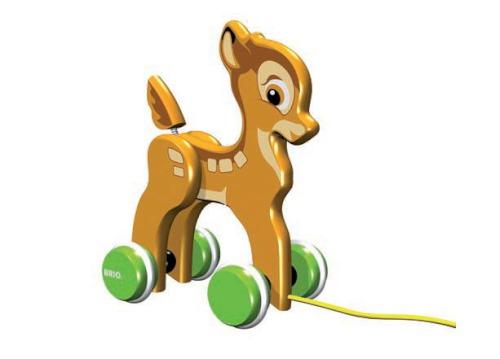 Каталки-игрушки Brio Оленёнок Бемби на веревочке