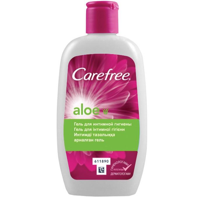 Carefree Гель для интимной гигиены с Алоэ 200 млГель для интимной гигиены с Алоэ 200 млГель для интимной гигиены с Алоэ  с мягкой, не содержащей мыла формулой, обеспечивает ежедневную свежесть и деликатный уход за кожей интимной зоны.   Он специально разработан для ухода за чувствительной интимной зоной, поддерживая естественный уровень pH.<br>