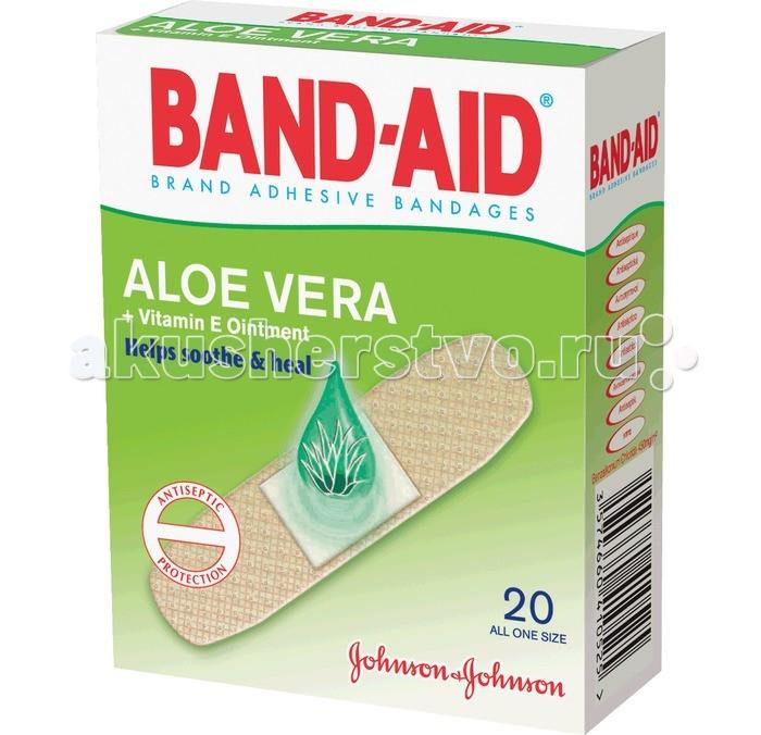 Johnson's Baby Band-Aid Пластырь Антисептический с Алоэ и витамином Е 20 шт.Band-Aid Пластырь Антисептический с Алоэ и витамином Е 20 шт.Пластырь Антисептический с Алоэ и витамином Е незаменим в домашней аптечке, а так же в поездках.   Он отлично пропускает воздух, позволяя коже дышать, а антисептическая полоска убивает все вредные бактерии, предотвращая таким образом занесение и распространение различных инфекций.   Пластырь практически незаметен на коже, незаменим при мелких порезах и ссадинах.<br>