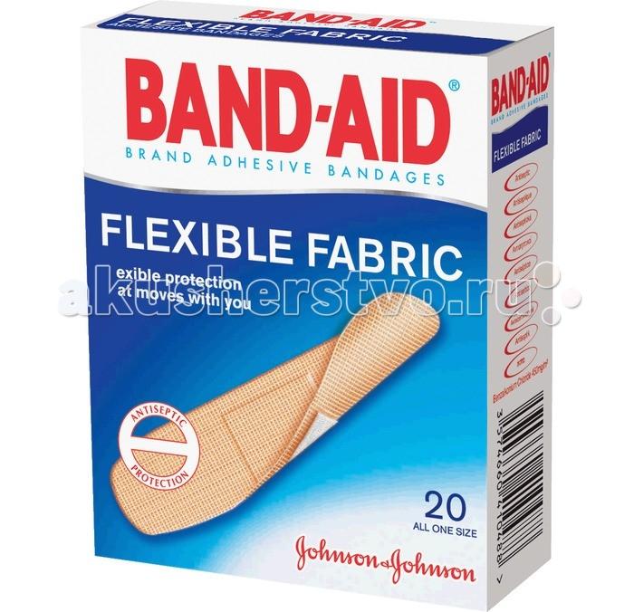 Johnson's Baby Band-Aid Пластырь Антисептический Эластичный 20 шт.