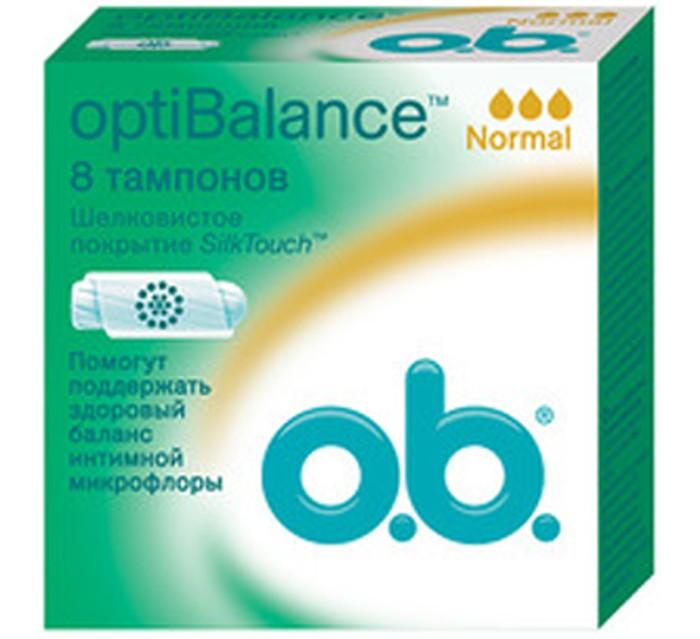 o.b. Тампоны optiBalance Нормал 8 шт.Тампоны optiBalance Нормал 8 шт.Тампоны optiBalance Нормал подойдут для использования в любой день менструаций.   Натуральный компонент поможет сохранить необходимый уровень полезных бактерий, а спиралевидные желобки и покрытие SilkTouch обеспечат надежную защиту и оптимальный комфорт.<br>