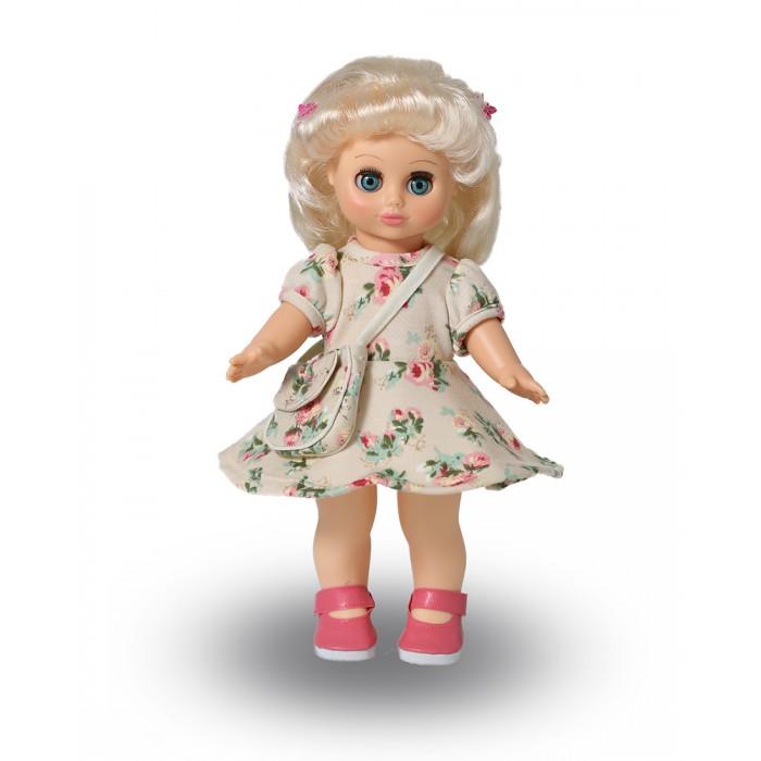 Весна Кукла Настя 17 со звуковым устройством 30 смКукла Настя 17 со звуковым устройством 30 смКукла Настя 17 со звуковым устройством 30 см из серии «Моя любимая кукла» может стать настоящей подружкой для ребёнка. Комплект одежды состоит из: трикотажного летнего платья, сумочки из трикотажа и х/б, и туфель. Производитель оставляет за собой право изменения цветовой гаммы одежды и волос куклы, цвет глаз может варьироваться.   Игровые и дидактические возможности куклы: при нажатии на звуковое устройство, вставленное в спинку, кукла произносит фразы. Наличие элементов одежды, которые легко снимаются и надеваются, аксессуара-сумочки разнообразит возможности сюжетно-ролевых игр с этой куклой, в процессе которых развивается мелкая моторика и творческое воображение ребёнка.   Прекрасные прошитые волосы из качественного нейлона, похожие на натуральные, можно завивать, расчёсывать, меняя образ куклы.   Рост куклы 30 см. Кукла озвучена. Глаза вставные закрывающиеся. Тело куклы пропорционально. Ручки и голова выполнены из эластичного, приятного на ощупь винила, а туловище и ноги из пластмассы.   Соответствует Техническому регламенту Таможенного Союза о безопасности игрушки.  Дополнительно к кукле можно приобрести комплект одежды.<br>