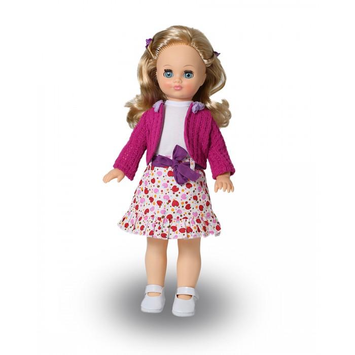Весна Кукла Лиза 11 со звуковым устройством 42 смКукла Лиза 11 со звуковым устройством 42 смКукла Лиза 11 со звуковым устройством 42 см из серии «Моя любимая кукла» может стать настоящей подружкой для ребёнка. В комплект одежды для куклы входит: трикотажная майка и юбка из ткани х/б с застёжками сзади на контактную ленту «Велкро», жакет из вязаного трикотажа. Комплект дополняют туфли с ремешком и застежкой на «Велкро». Производитель оставляет за собой право изменения цветовой гаммы одежды и волос куклы, цвет глаз может варьироваться. Игровые и дидактические возможности куклы: при нажатии на звуковое устройство, вставленное в спинку, кукла произносит фразы. Наличие элементов одежды, которые легко снимаются и надеваются, разнообразит возможности сюжетно-ролевых игр с этой куклой, в процессе которых развивается мелкая моторика и творческое воображение ребёнка.   Прекрасные прошитые волосы из качественного нейлона, похожие на натуральные, можно завивать, расчёсывать, укладывать в разные причёски, меняя образ куклы.   Рост куклы 42 см. Кукла озвучена. Глаза вставные закрывающиеся. Тело куклы пропорционально. Ручки и голова выполнены из эластичного, приятного на ощупь винила, а туловище и ноги из пластмассы.<br>