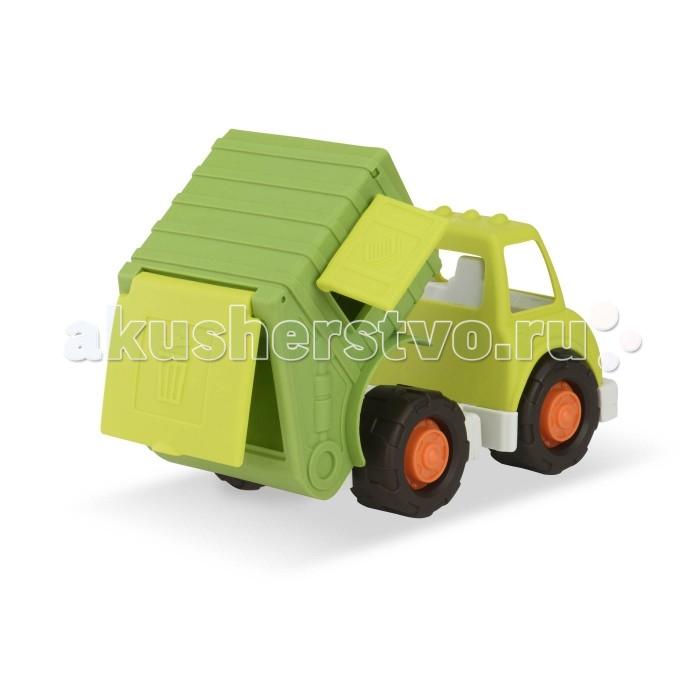 Battat Грузовик мусоровозГрузовик мусоровозBattat Грузовик мусоровоз  Прочный, высококачественный пластик  Яркая расцветка Большие колеса Хорошая проходимость по всем дорожным покрытиям (песок, гравий, галька) Подвижные части Индивидуальная упаковка: плотный картон с окошком Размер 30.5 x 19.5 x 17 см<br>