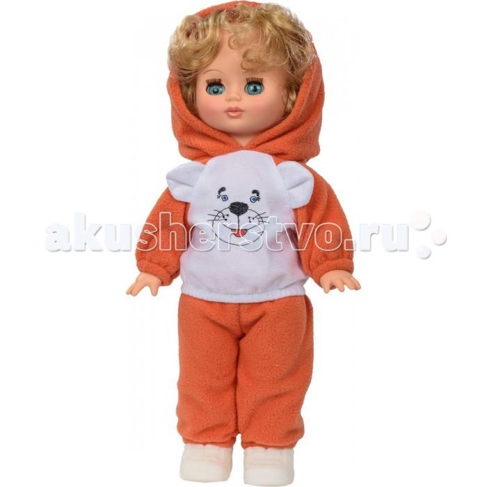 Весна Кукла Жанна 14 со звуковым устройством 34 смКукла Жанна 14 со звуковым устройством 34 смКукла Жанна 14 со звуковым устройством 34 см из серии «Моя любимая кукла» может стать настоящей подружкой для ребёнка. В комплект одежды куклы входит: джемпер из ворсового трикотажа с вышивкой, с капюшоном из флиса, брюки из флиса, носки из трикотажа. Комплект дополняют кроссовки. Производитель оставляет за собой право изменения цветовой гаммы одежды и волос куклы, цвет глаз может варьироваться.   Игровые и дидактические возможности куклы: при нажатии на звуковое устройство, вставленное в спинку, кукла произносит фразы. Наличие элементов одежды, которые легко снимаются и надеваются, разнообразит возможности сюжетно-ролевых игр с этой куклой, в процессе которых развивается мелкая моторика и творческое воображение ребёнка.   Прекрасные прошитые волосы из качественного нейлона, похожие на натуральные, можно завивать, расчёсывать, укладывать в разные причёски, меняя образ куклы.   Рост куклы 34 см. Кукла Жанна Весна 14 озвучена. Глаза вставные закрывающиеся. Тело куклы пропорционально. Ручки и голова выполнены из эластичного, приятного на ощупь винила, а туловище и ноги из пластмассы.   Кукла Жанна Весна 14 соответствует Техническому регламенту Таможенного Союза о безопасности игрушки.  Кукла произносит следующие фразы:  -Мама,  -Почитай мне книжку.  -Давай поиграем.  -Есть хочу.  -Хочу спать.<br>