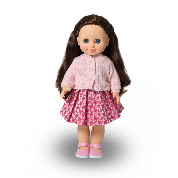 Весна Кукла Анна 18 со звуковым устройством 42 смКукла Анна 18 со звуковым устройством 42 смКукла Анна 18 со звуковым устройством 42 см  Это очаровательная кукла-девочка с открытым взглядом, пушистыми ресницами, обаятельной улыбкой и роскошными волосами. На кукле надеты: платье из плательной ткани, по горловине перед заложен складками, застежки на бретелях на кнопки. Жакет из вязаного трикотажа с длинными рукавами, застёжка спереди на «Велкро», поверх застёжки пришиты бусины, имитирующие пуговицы. Дополняют комплект туфли. Производитель оставляет за собой право изменения цветовой гаммы одежды и волос куклы, цвет глаз может варьироваться.   Игровые возможности куклы: прекрасные длинные волосы, похожие на натуральные, можно завивать, расчёсывать и укладывать в разные причёски, меняя образ куклы. При нажатии на звуковое устройство она произносит фразы, побуждающие к действию. Она умеет закрывать глазки, её можно укладывать спать. Продуманная конструкция позволяет легко сажать, ставить на ножки, переодевать. Дополнительно к кукле можно приобрести комплект одежды.   Технические характеристики: кукла полностью выполнена из современного материала винила. Длина волос – 24 см. Глаза вставные закрывающиеся. Высота 42 см. Кукла озвучена.<br>