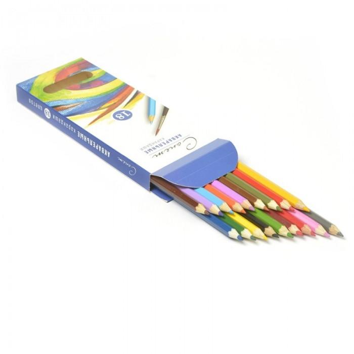 Сонет Набор акварельных карандашей 18 цветовНабор акварельных карандашей 18 цветовСонет Набор акварельных карандашей 18 цветов  Акварельные карандаши непременно, понравятся вашему юному художнику  Набор включает в себя 18 ярких насыщенных цветных карандашей, которые идеально подходят для малышей  Шестигранный корпус изготовлен из натуральной древесины  Карандаши имеют прочный неломающийся грифель, не требующий сильного нажатия и легко затачиваются  Порадуйте своего ребенка таким восхитительным подарком!<br>