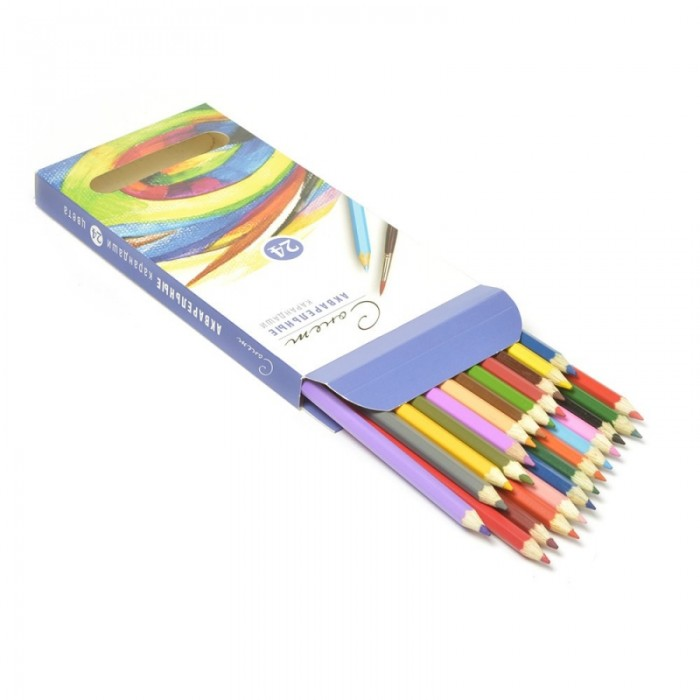 Сонет Набор акварельных карандашей 24 цветаНабор акварельных карандашей 24 цветаСонет Набор акварельных карандашей 24 цветов  Акварельные карандаши непременно, понравятся вашему юному художнику  Набор включает в себя 24 ярких насыщенных цветных карандашей, которые идеально подходят для малышей  Шестигранный корпус изготовлен из натуральной древесины  Карандаши имеют прочный неломающийся грифель, не требующий сильного нажатия и легко затачиваются  Порадуйте своего ребенка таким восхитительным подарком!<br>