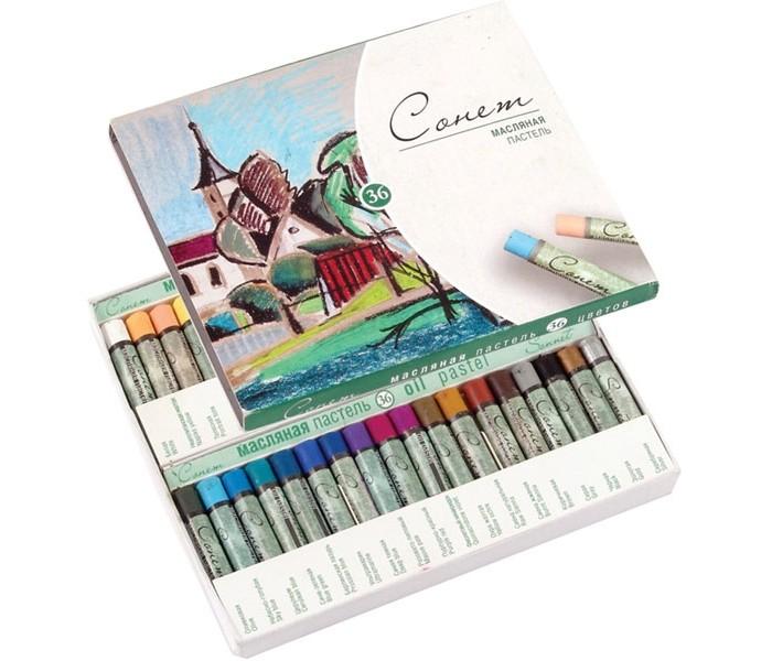 Сонет Пастель масляная 36 цветовПастель масляная 36 цветовНевская палитра Сонет Пастель масляная 36 цветов  Масляная пастель Сонет предназначена для живописи. Обладает интенсивностью и яркостью цвета, хорошей кроющей способностью, смешиваемостью и мягкостью. Масляная пастель легко ложится на различные фактуры цветной бумаги, бумагу для рисования, картон, дерево, керамику. Пастелью удобно работать на открытом воздухе. Закреплять рисунок, выполненный масляной пастелью не нужно, в отличие от сухой.<br>