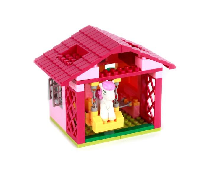 Конструктор Город мастеров Домик для пони (110 деталей)Домик для пони (110 деталей)Во время увлекательной сборки домика для милой лошадки-пони у ребенка будут развиваться пространственное и логическое мышление, а также мелкая моторика рук. Будущая заботливая хозяйка игрушечного животного с красивой светло-фиолетовой гривой также сможет соорудить для нее удобную желтую качельку внутри ее жилища.   Особенности: отлито из высококачественного пластика без неровных краев детали совместимы с другими конструкторами мировых производителей если в сборке возникнут трудности, преодолеть их поможет инструкция  Развивает: пространственное мышление терпение мелкую моторику логику усидчивость воображение игровые навыки<br>