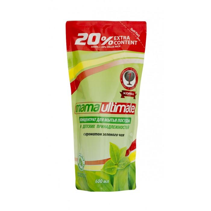 Mama Ultimate Концентрированное средство для мытья посуды Зеленый чай запасной блок 600 мл