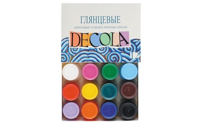Decola Акрил глянцевый 12 цветов банка 20 мл