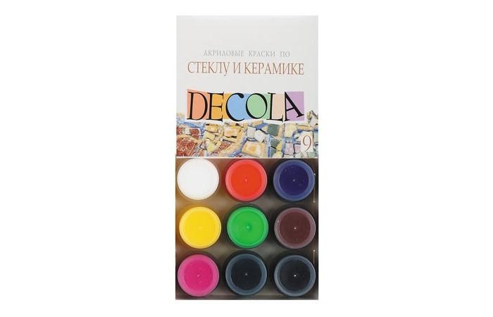 Decola Акрил по стеклу и керамике 9 цветов банка 20 мл