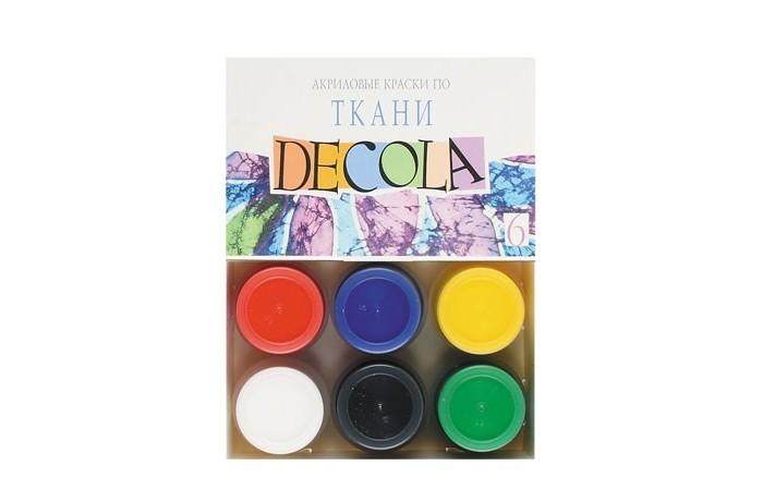Decola Акрил по ткани 6 цветов банка 20 мл