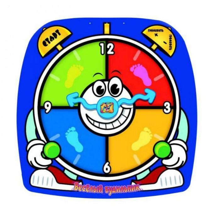 Игровой коврик Знаток Звуковой коврик Веселый БудильникЗвуковой коврик Веселый БудильникЗвуковой коврик Веселый Будильник  Сделать утро бодрым и веселым поможет звуковой коврик «Веселый будильник». На ярком полотне изображен разноцветный будильник с сенсорными кнопками. Чтобы его завести, нужно походить по поверхности.   Также коврик можно использовать для активной игры. Для этого надо нажать на кнопку «Старт». На электронном блоке изделия будут загораться световые индикаторы.   Задача крохи — наступать на секции коврика в соответствии с загорающимися сигналами. Игра имеет три уровня сложности.<br>