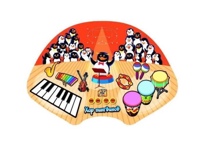 Игровой коврик Знаток Звуковой коврик Хор Пингвинов
