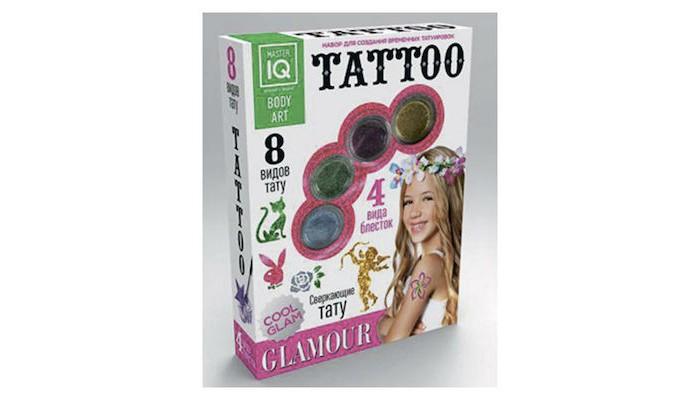 Каррас Игровой набор для временных татуировок GlamourИгровой набор для временных татуировок GlamourНабор для временных татуировок Glamour содержит 8 трафаретов и все необходимые компоненты из безопасных материалов для нанесения рисунка!  Размер упаковки: 175&#215;235&#215;45 мм  Можно украсить ручку или плечо яркой временной татуировкой с блестками!<br>