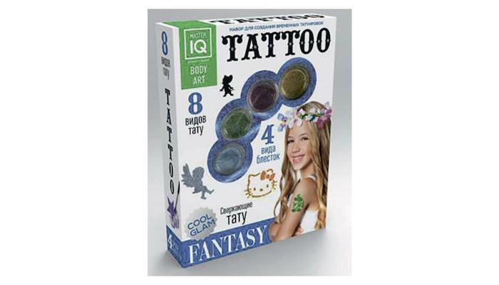 Каррас Игровой набор для временных татуировок FantasyИгровой набор для временных татуировок FantasyНабор для временных татуировок Fantasy содержит 8 трафаретов и все необходимые компоненты из безопасных материалов для нанесения рисунка!  Размер упаковки: 175&#215;235&#215;45 мм  Можно украсить ручку или плечо яркой временной татуировкой с блестками!<br>