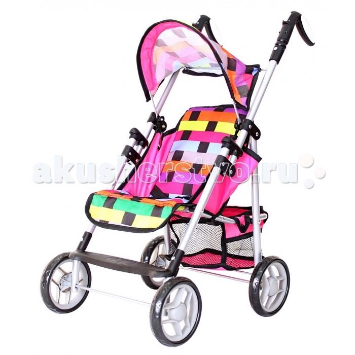 Коляска для куклы R-Toys 93519351Летняя складная коляска 9351 с необыкновенно ярким радужным рисунком. Уникальная особенность этой модели – поворотные ручки на кнопках. Нажимая на кнопки на ручках, Вы можете регулировать их положение.   Эта коляска с капюшоном и опускающейся до горизонтального положения спинкой выглядит как маленькая копия настоящей современной коляски для детей. У нее есть все как у настоящей коляски: багажник-сетка внизу, складной капюшон, ручки поворачиваются в разные стороны.   Особенность этой коляски от многих других моделей в том, что спинка легко опускается до горизонтального положения. Юная мама может положить куклу спать и катать ее в коляске. В горизонтальном лежачем положении кукле будет очень удобно и она будет спать всю поездку. Юная мама оценит эту разработку инженеров.   Уникальные колеса - они прорезиненные сверху, что дает плавность и мягкость хода. И конечно же, эти колеса не гремят по дороге.  Коляска легко складывается.  В нижней части коляски – багажная корзинка для игрушек. Прочная, непромокаемая ткань.   Размер коляски 42х33х62 до сиденья 25 см, высота ручки 65 см  Коляски для кукол – непременный атрибут игры в дочки-матери. Коляски для кукол от R-Toys являются маленькими многофункциональными копиями настоящих детских колясок. Кроме красоты и увлечения игрой, эти коляски способны решать серьезные воспитательные задачи, развивает много хороших качеств: заботу, внимание, ответственность и желание помогать родным.   Играя в куклы и катая их в кукольных колясках, Ваши малыши берут на себя ответственность за своих воображаемых детей и проявляют себя с самых лучших сторон. Давайте задания своим детям, помогайте им познавать мир и учиться. Воспитывайте их в самых лучших традициях и результат не заставит себя долго ждать.<br>