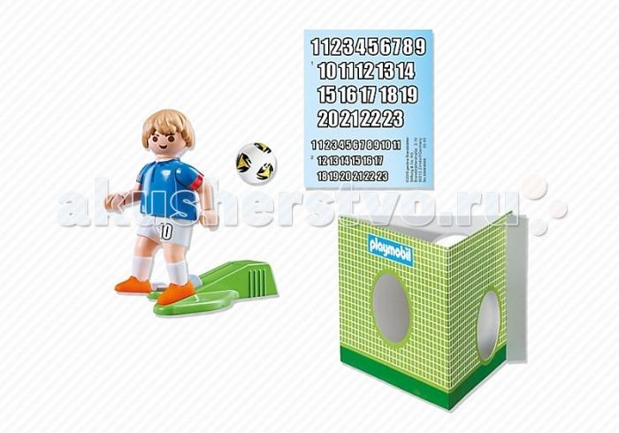 Конструктор Playmobil Футбол: Игрок сборной ФранцииФутбол: Игрок сборной ФранцииPlaymobil Футбол: Игрок сборной Франции  В комплекте:  1 фигурка человечка ворота мяч наклейки<br>