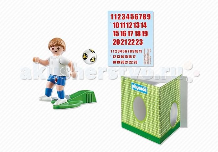 Конструктор Playmobil Футбол: Игрок сборной АнглииФутбол: Игрок сборной АнглииPlaymobil Футбол: Игрок сборной Англии  В комплекте:  1 фигурка человечка ворота мяч наклейки<br>