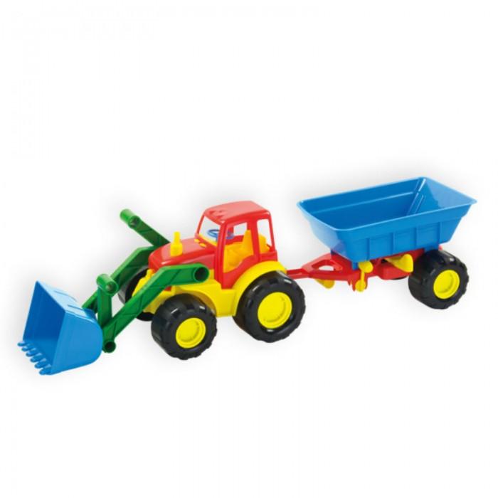 ZebraToys Трактор с ковшом и прицепом ActiveТрактор с ковшом и прицепом ActiveТрактор с ковшом и прицепом Active  Машинки серии ACTIVE отличаются эргономичностью и ударопрочностью. Трактор с ковшом и прицепом станет отличным подарком для юного строителя, а подвижные детали игрушки позволят вашему ребенку погрузиться в процесс игры с головой.<br>