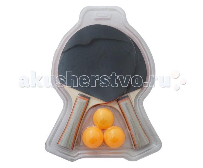 X-Match Набор для настольного теннисаНабор для настольного теннисаX-Match Набор для настольного тенниса состоит из трех оранжевых шариков и двух деревянных ракеток. На ракетках есть мягкая накладка с пупырышками, на которой есть изображение логотипа бренда.   Настольный теннис улучшает концентрацию, пространственное мышление, ловкость и благотворно влияет на вестибулярный аппарат.<br>