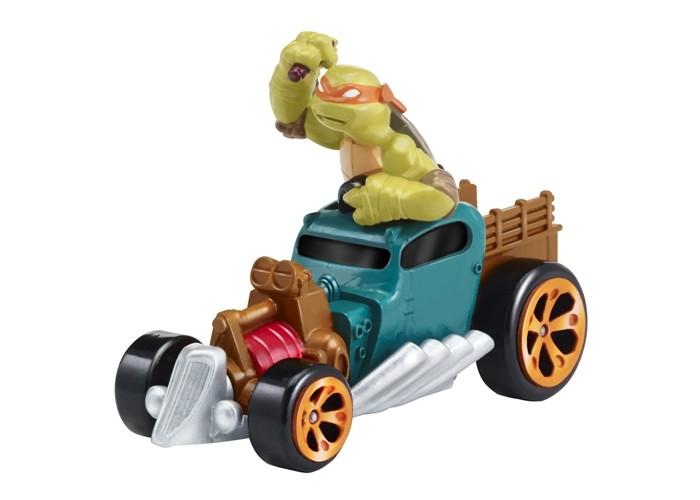 Turtles Машинка Черепашки-ниндзя 7 см Майки на Драндулете