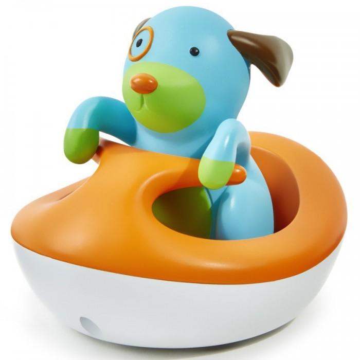 Skip-Hop Игрушка для ванной Щенок на гидроциклеИгрушка для ванной Щенок на гидроциклеSkip-Hop игрушка для ванной Щенок на гидроцикле  Интересная красочная игрушка развеселит малыша во время купания! Щеночек может лаять, а гидроцикл издает звуки работающего мотора и всплеска воды.   Игрушка прекрасно подходит для игры не только в ванной, но и песочнице. Щеночка можно достать из гидроцикла и забавляться с ним отдельно!   Игрушка быстро просыхает, не скапливая плесень.   Изделие изготовлено из высококачественного мягкого пластика, который не поранит ребенка.   Размеры: 10 х 8 х 8 см Работает на батарейке CR2032 3V (таблетка)<br>