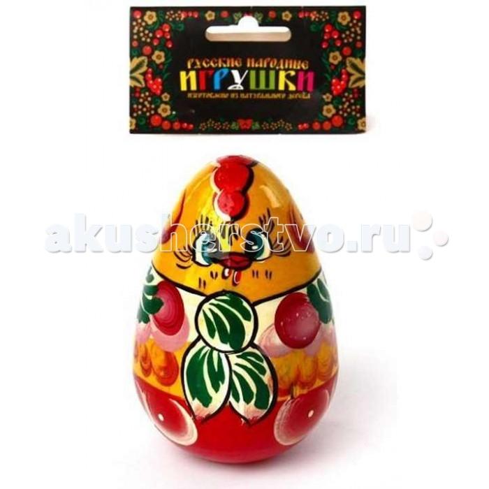 Деревянная игрушка Русская народная игрушка (РНИ) Неваляшка Курочка