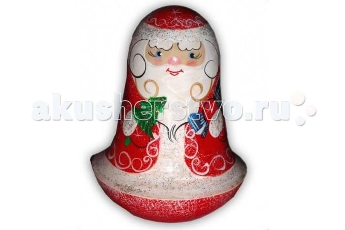 Деревянная игрушка Русская народная игрушка (РНИ) Неваляшка Дед мороз