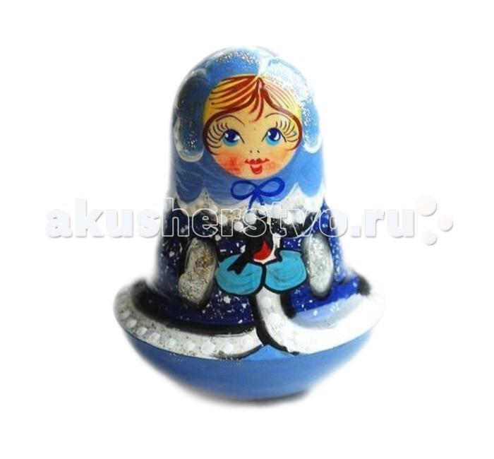 Деревянная игрушка Русская народная игрушка (РНИ) Неваляшка Снегурочка