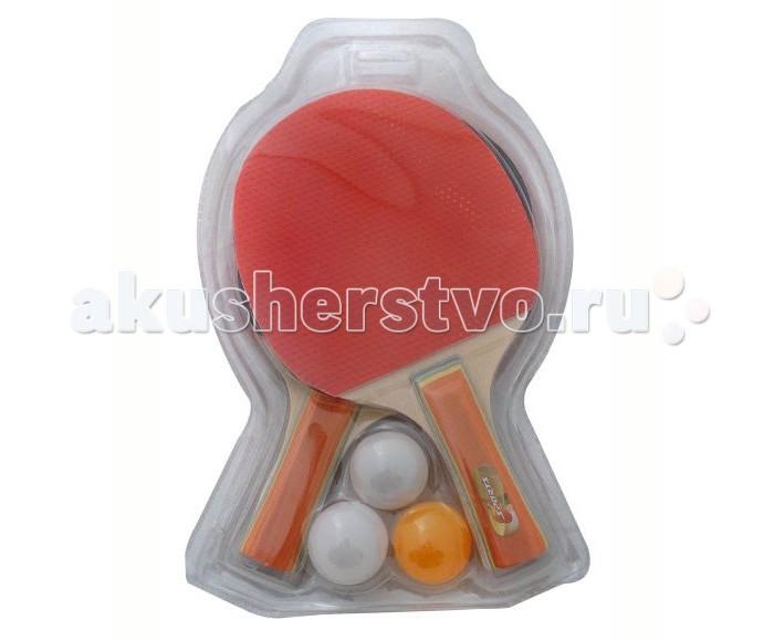 X-Match Набор для настольного тенниса ракетки 2 шт.+ 3 шара