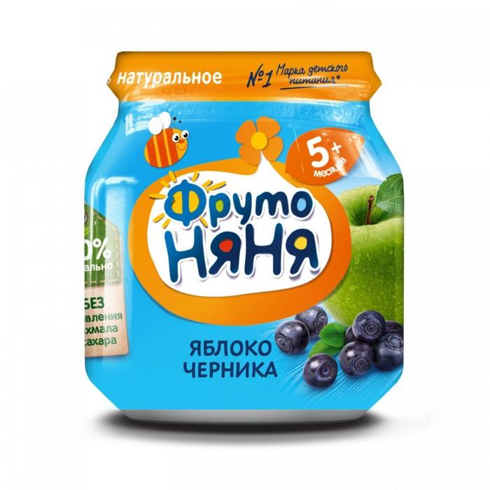 ФрутоНяня Пюре из яблок и черники с 5 мес., 100 г