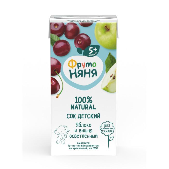 ФрутоНяня Сок яблочно-вишневый осветленный с 5 мес., 200 мл