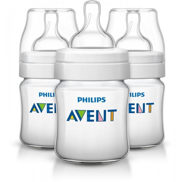 Бутылочка Philips-Avent Classic+ 3 шт. 125 млClassic+ 3 шт. 125 млБутылочка Philips-Avent Classic+ была улучшена: теперь кормление станет еще приятнее. Антиколиковая система, эффективность которой доказана клиническими испытаниями, теперь используется в соске, делая процесс сборки и очистки максимально простым.  Особенности: Отличается от других бутылочек: антиколиковая система, эффективность которой доказана клиническими испытаниями, теперь используется в соске, делая процесс сборки максимально простым. Во время кормления уникальный клапан на соске открывается, пропуская воздух в бутылочку, а не в животик малыша. Полноценный сон и правильное питание крайне важны для здоровья и хорошего самочувствия малыша. В ходе рандомизированного клинического исследования о том, влияет ли дизайн бутылочки для кормления грудных детей на их поведение, специалисты установили, что при использовании бутылочки Philips Avent серии Classic дети ведут себя спокойно значительно дольше — приблизительно на 28 минут в день — чем при использовании бутылочки компании-конкурента (46 мин. против 74 мин., p=0,05). Это особенно заметно в ночное время. Уникальный клапан соски сгибается в соответствии с естественным ритмом кормления малыша. Молоко поступает с той скоростью, которую выбирает малыш, что помогает уменьшить газообразование и количество срыгиваний, а также сократить риск переедания. Новая бутылочка Classic+ препятствует протеканию для еще большего удовольствия от кормления. Всего 4 детали, широкое горлышко и закругленные края позволяют быстро и тщательно очистить бутылочку. Невероятно быстрая и эффективная очистка бутылочки для вашего спокойствия. Максимально комфортное кормление благодаря уникальной форме бутылочки, которую можно держать в любом положении. Удобно даже для маленьких ручек малыша. Бутылочка Philips Avent серии Classic+ совместима с большинством изделий линейки Philips Avent. Рекомендуется использовать бутылочку серии Classic+ только с сосками серии Classic+. Бутылочка для 