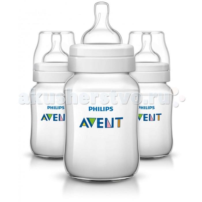 Бутылочка Philips-Avent для кормления 3 шт. 260 млдля кормления 3 шт. 260 млБутылочка Philips-Avent Classic+ была улучшена: теперь кормление станет еще приятнее. Антиколиковая система, эффективность которой доказана клиническими испытаниями, теперь используется в соске, делая процесс сборки и очистки максимально простым.  Особенности: Отличается от других бутылочек: антиколиковая система, эффективность которой доказана клиническими испытаниями, теперь используется в соске, делая процесс сборки максимально простым. Во время кормления уникальный клапан на соске открывается, пропуская воздух в бутылочку, а не в животик малыша. Полноценный сон и правильное питание крайне важны для здоровья и хорошего самочувствия малыша. В ходе рандомизированного клинического исследования о том, влияет ли дизайн бутылочки для кормления грудных детей на их поведение, специалисты установили, что при использовании бутылочки Philips Avent серии Classic дети ведут себя спокойно значительно дольше — приблизительно на 28 минут в день — чем при использовании бутылочки компании-конкурента (46 мин. против 74 мин., p=0,05). Это особенно заметно в ночное время. Уникальный клапан соски сгибается в соответствии с естественным ритмом кормления малыша. Молоко поступает с той скоростью, которую выбирает малыш, что помогает уменьшить газообразование и количество срыгиваний, а также сократить риск переедания. Новая бутылочка Classic+ препятствует протеканию для еще большего удовольствия от кормления. Всего 4 детали, широкое горлышко и закругленные края позволяют быстро и тщательно очистить бутылочку. Невероятно быстрая и эффективная очистка бутылочки для вашего спокойствия. Максимально комфортное кормление благодаря уникальной форме бутылочки, которую можно держать в любом положении. Удобно даже для маленьких ручек малыша. Бутылочка Philips Avent серии Classic+ совместима с большинством изделий линейки Philips Avent. Рекомендуется использовать бутылочку серии Classic+ только с сосками серии Classic+. Буты