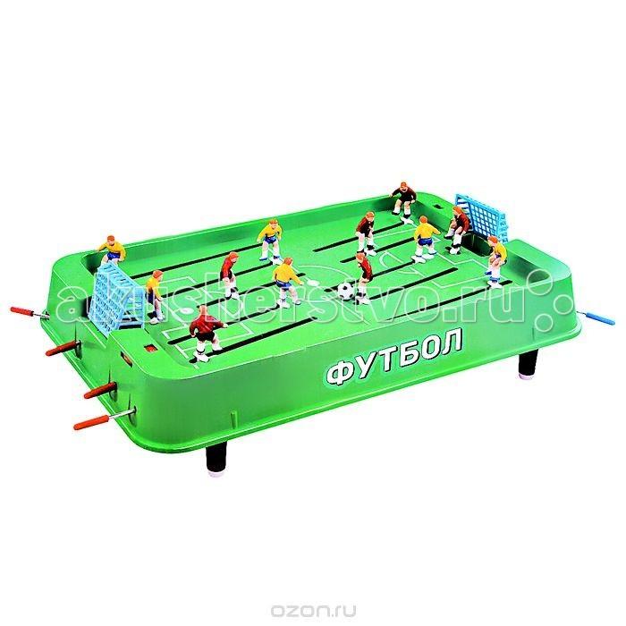 X-Match Настольная игра Футбол 941315Настольная игра Футбол 941315X-Match Настольная игра Футбол 941315. Каждая команда состоит из 5 игроков и одного вратаря. Перед установкой игроков на игровое поле задвиньте все рычаги управления игроками внутрь поля до упора. Закрепите игрока на специальных фиксаторах, вставив фиксатор в отверстие на ноге игрока.  Играть будет намного интереснее, если вы будете придерживаться установленных правил. Например, матч может состоять из двух таймов по 5 минут. Матч начинается после того, как игроки по очереди выбрасывают мяч в центр игрового поля. То же следует делать после каждого забитого гола. Счет игры ведется с помощью счетчика очков.  Играть не только увлекательно, но и полезно! Игра помогает развить координацию движений, скорость реакции и внимание.  Размер игрового поля: 37 х 23,5 см<br>