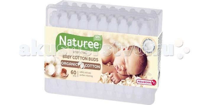 SPA Cotton Ватные палочки для детей Naturee с ограничителем 60 шт.