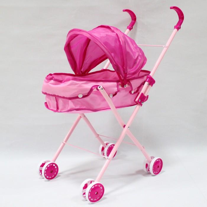 Коляска для куклы Ami&amp;Co (AmiCo) 4606246062AmiCo Коляска для кукол 46062  Любой девочке хочется, чтобы у ее кукол было как можно больше аксессуаров для интересных и увлекательных игр. Коляска для кукол - отличный выбор для маленькой принцессы и ее кукол. Удобная, легкая, но очень устойчивая коляска. Произведено из экологически безопасных материалов.  Цвет: Розовый Размер коляски: 27 х 45 х 54 см Вес: 1 кг<br>
