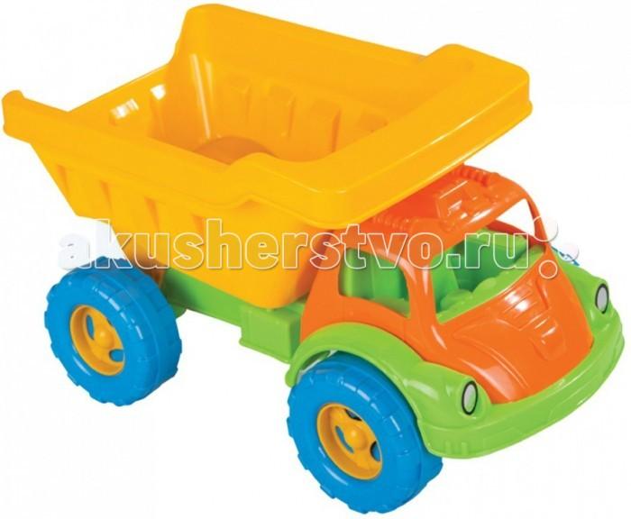 Pilsan Грузовик Truva DumpГрузовик Truva DumpГрузовик Truva Dump - яркая игрушка для игр на улице.   Большой грузовик привлечет детское внимание и позволит придумать много увлекательных игр. При помощи грузовика ребенок сможет активно развивать воображения, сочиняя все новые игры, а также координацию движений и восприятие цветов.   Грузовик имеет большие колеса и откидной кузов, в который можно положить мелкие предметы или насыпать песок.  Максимальная нагрузка 3 кг. Модель имеет большие рельефные пластиковые колеса, которые отличаются легким ходом даже по песку.  Откидной кузов. Материал: прочный пластик. Размеры: 25х41.5х23 см.  Цвета в ассортименте.  Компания Pilsan начала свою историю в 1942 году. Сегодня – это компания-гигант индустрии крупногабаритных детских игрушек, которая экспортирует свою продукцию в 57 стран мира. Компанией выпускается 146 наименований продукции – аккумуляторные и педальные автомобили, велосипеды, развивающие игрушки и аксессуары для детей. Вся продукция Pilsan сертифицирована и отвечает международным стандартам качества.<br>