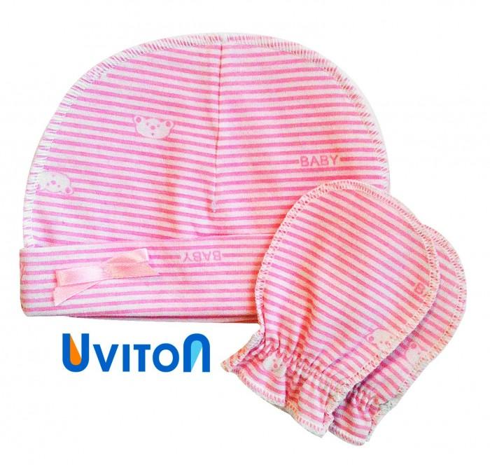 Uviton Набор шапочка и царапки Elly