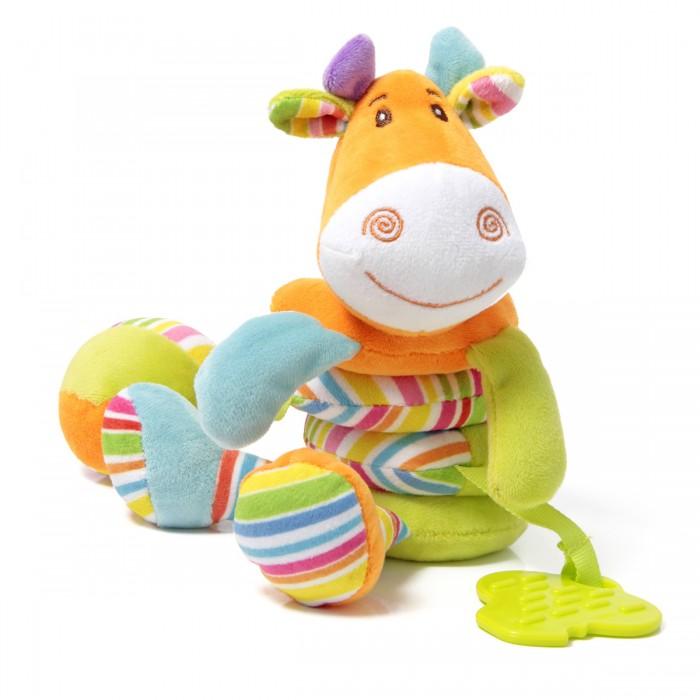 Развивающая игрушка Ути Пути Растяжка Жираф с прорезывателемРастяжка Жираф с прорезывателемУти Пути Растяжка Жираф с прорезывателем  Игрушки «Ути-пути» несут развлекательный и обучающий характер. Они учат малыша взаимодействовать с окружающим миром, знакомят со свойствами разных предметов, помогают развивать основные рефлексы (внимание, моторику рук, цветовое восприятие). Развивающая игрушка растяжка Жираф с прорезывателем, гремящими шариками внутри головы и пищалкой в мячике, при оттягивании вниз возвращается в исходное положение. Игрушка привлекает внимание и способствует развитию зрения и тактильного восприятия малыша.  Размер игрушки: 30 см<br>