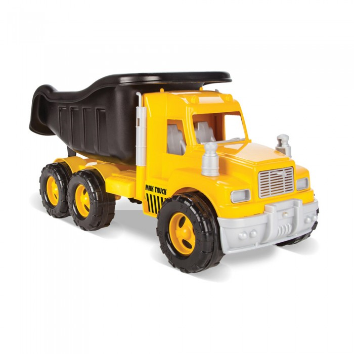 Pilsan Грузовик Dump TpuckГрузовик Dump TpuckГрузовик Dump Tpuck - яркая игрушка для игр на улице.   Большой грузовик привлечет детское внимание и позволит придумать много увлекательных игр. При помощи грузовика ребенок сможет активно развивать воображения, сочиняя все новые игры, а также координацию движений и восприятие цветов.   Грузовик Dump Tpuck имеет большие колеса и откидной кузов, в который можно положить мелкие предметы или насыпать песок.  Максимальная нагрузка 3 кг. Модель имеет большие рельефные пластиковые колеса, которые отличаются легким ходом даже по песку.  Откидной кузов. Материал: прочный пластик. Размеры: 27х53х24 см.  Цвета в ассортименте.  Компания Pilsan начала свою историю в 1942 году. Сегодня – это компания-гигант индустрии крупногабаритных детских игрушек, которая экспортирует свою продукцию в 57 стран мира. Компанией выпускается 146 наименований продукции – аккумуляторные и педальные автомобили, велосипеды, развивающие игрушки и аксессуары для детей. Вся продукция Pilsan сертифицирована и отвечает международным стандартам качества.<br>