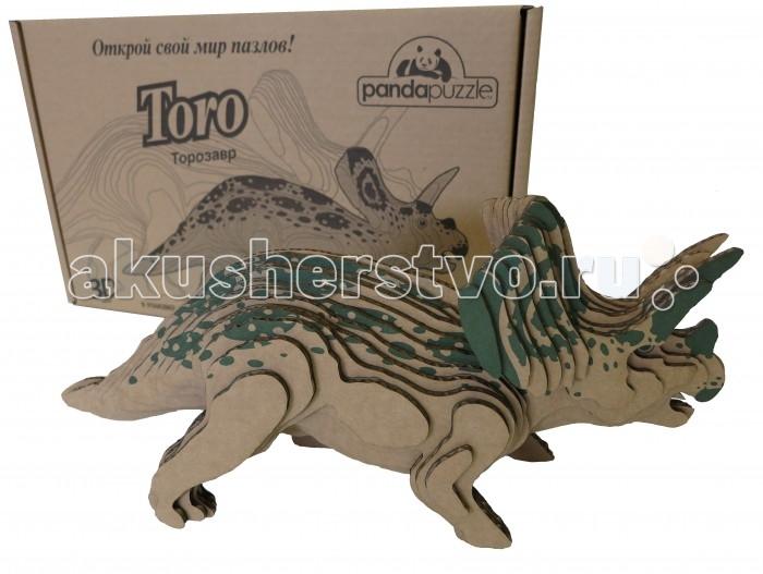 Конструктор Panda Puzzle Торозавр большой 44 элементаТорозавр большой 44 элементаТорозавр большой  Трехмерная модель для сборки.   В упаковке: детали модели 44 шт., инструкция, клей. Отдельные детали собираются и склеиваются.   Размер собранной модели 39,5х18х13 см. Вес: 252 гр. Состав: гофрокартон.<br>