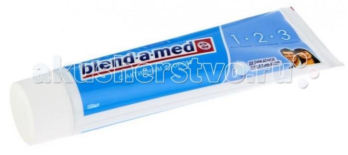 Blend-a-med Зубная паста 3 Эффект Деликатное отбеливание 100 млЗубная паста 3 Эффект Деликатное отбеливание 100 млЗубная паста Blend-a-med 3_Эффект Деликатное отбеливание помогает восстановить естественную белизну зубов, не повреждая эмаль.   А также освежает дыхание и обеспечивает максимальную защиту от кариеса благодаря формуле, содержащей активный фтор.   Особенности   С Активным Фтором.  Обеспечивает качественный уход за здоровьем полости рта.  Ежедневная забота о полости рта для Вас и Вашей семьи.<br>